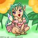Giselda in the garden